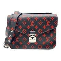 Louis Vuitton black and red pochette metis monogram LV Thumbnail