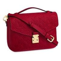 Louis Vuitton pochette metis red emprinte leather LV Thumbnail
