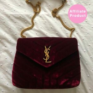 red Saint Laurent YSL red velvet loulou bag small
