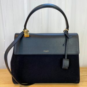 Saint Laurent Moujik Avec Black Bag front NEW