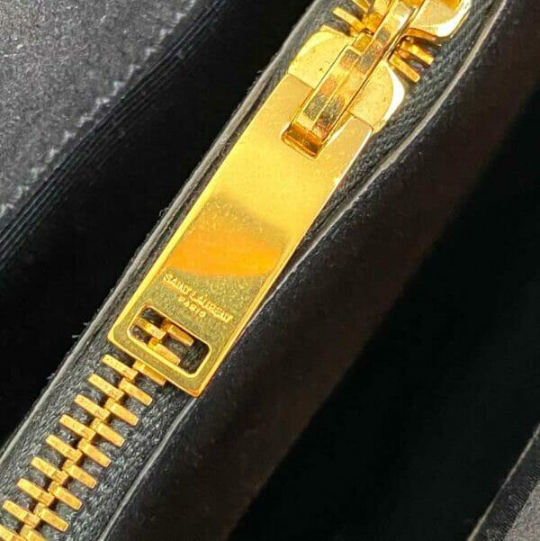 Saint Laurent Moujik Avec Black Bag gold zipper
