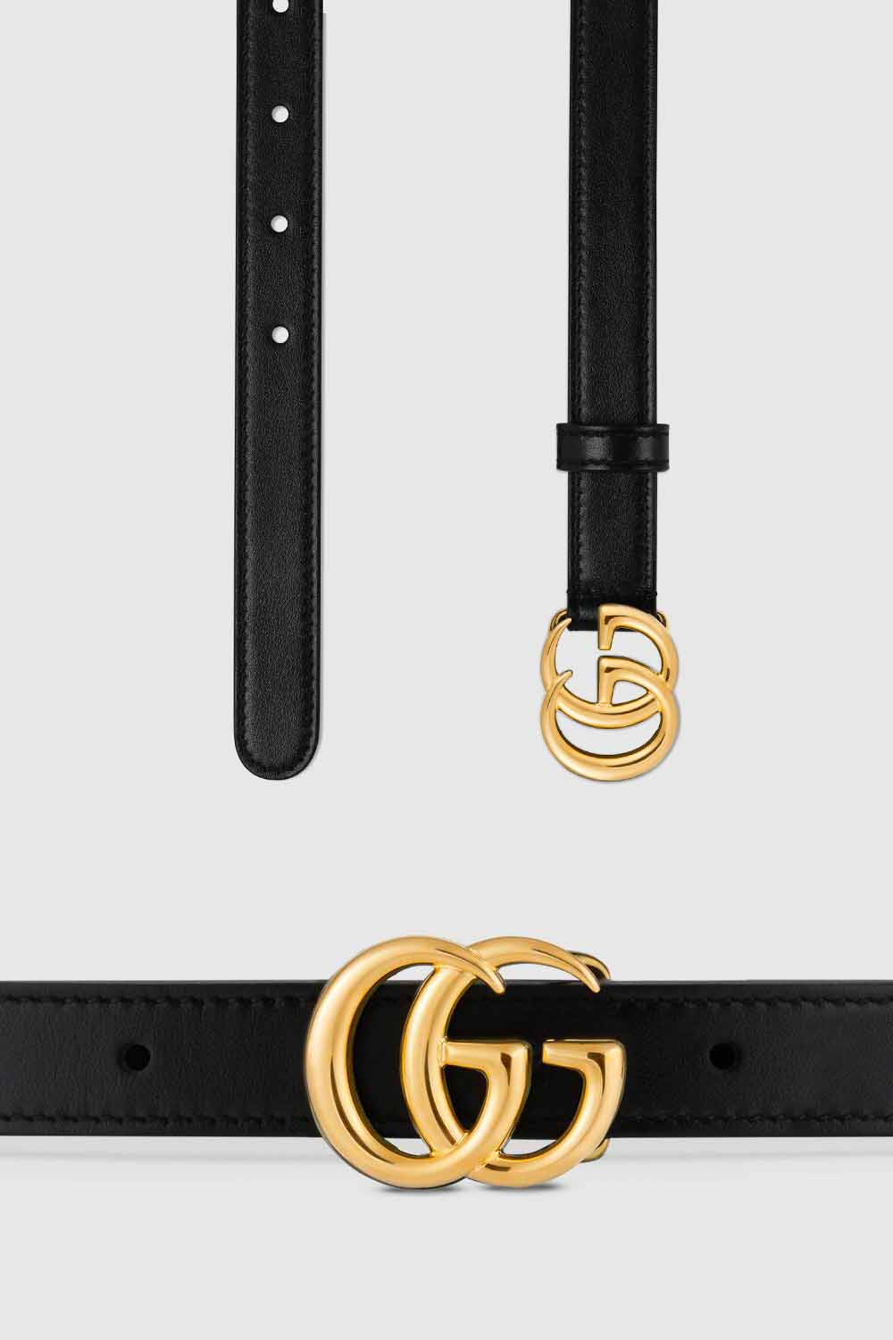The best luxury gifts for her women - Gucci marmont belt black and gold gift idea
