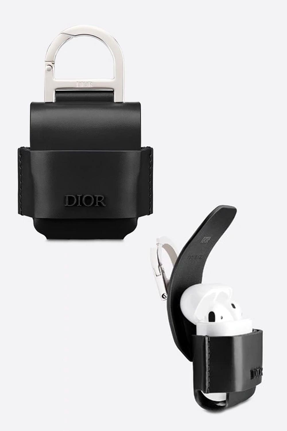 The-best-luxury-gifts-for-men-Christian-Dior-CASE-FOR-AIRPODS-Black-Smooth-Calfskin