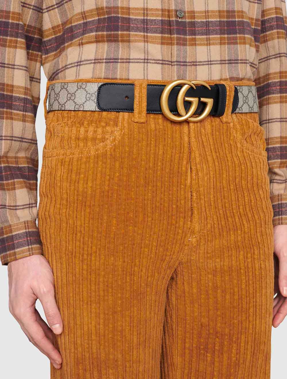The-best-luxury-gifts-for-men-GG-belt-with-Double-G-buckle-monogram-for-men