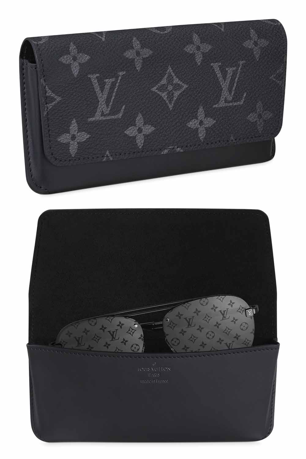 The-best-luxury-gifts-for-men-Louis-Vuitton-WOODY-GLASSES-CASE-eclipse-monogram-designer