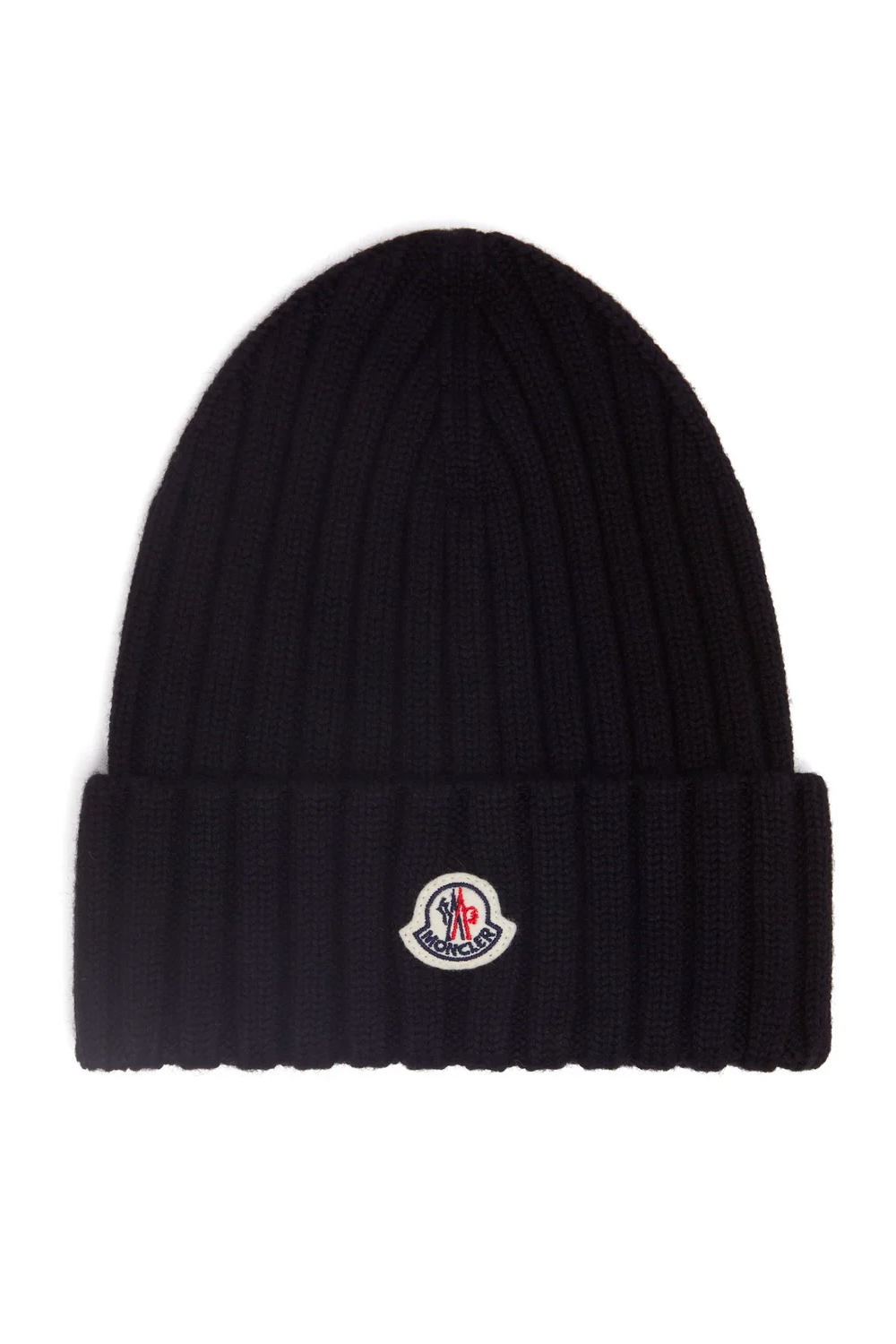 The-best-luxury-gifts-for-men-Moncler-Logo-patch-merino-wool-beanie-Pinterest