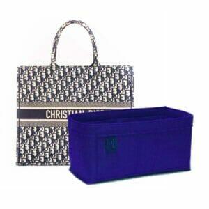 Christian Dior book tote bag liner organiser