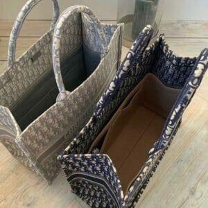 Christian Dior book tote bag liner organiser example