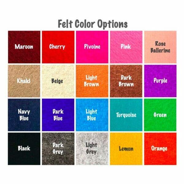 JennyKrafts handbag liner organizer felt colours
