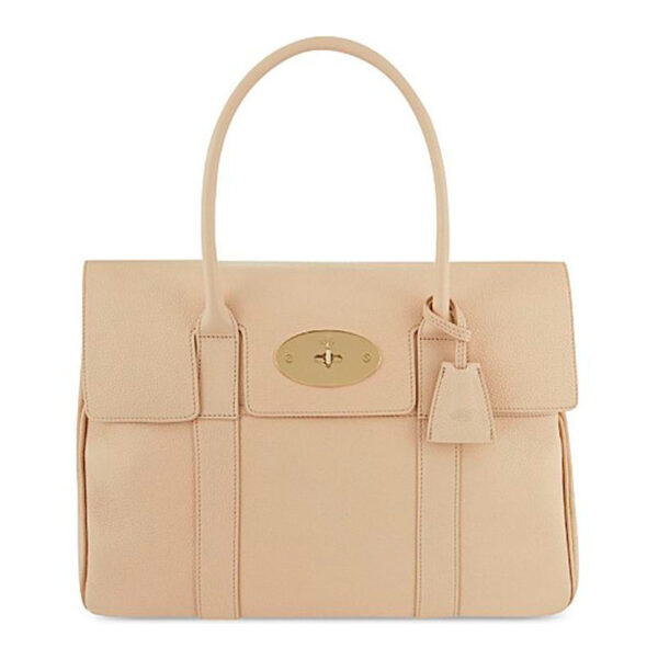 Mulberry bayswater pebble putty nude beige bag main