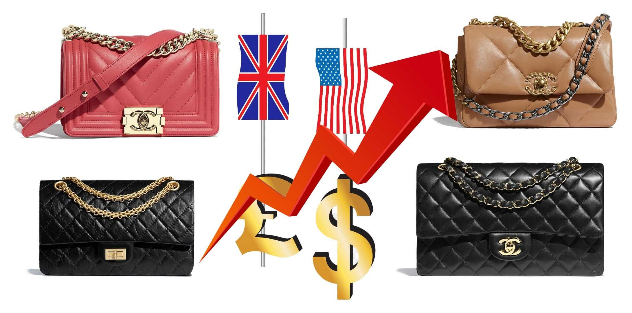 Chanel Bag Price Increase 2021 UK and US