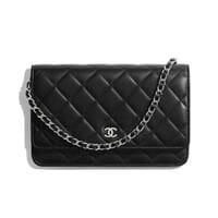 Chanel wallet on chain black lambskin