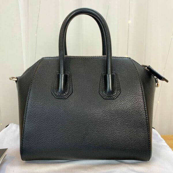 Givenchy antigona mini consignment Emma black calf leather back