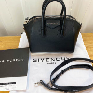 Givenchy antigona mini consignment Emma black calf leather with receipt