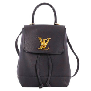 Louis Vuitton LockMe Mini Backpack Black and Gold main