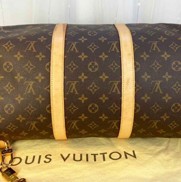 Louis Vuitton monogram keepall 50 vachetta leather Bottom of bag