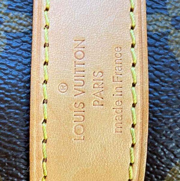Louis Vuitton monogram keepall 50 vachetta leather made in stamp