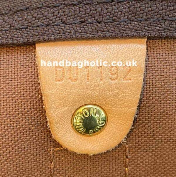 Louis Vuitton monogram keepall 50 vachetta leather watermark date code