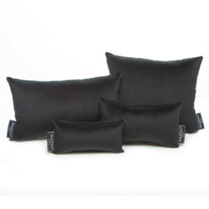 Black Velvet set of 4 bag pillows purse cushions