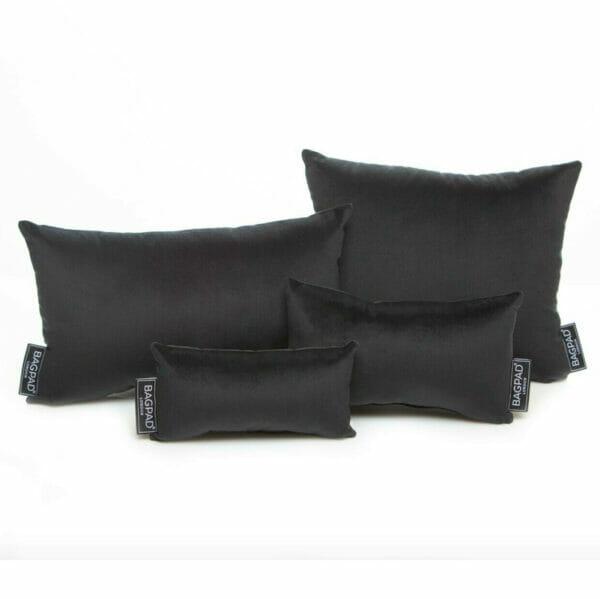 Black Velvet set of 4 bag pillows purse cushions
