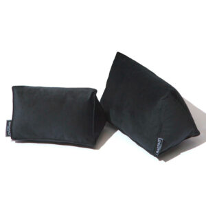 Black medium velvet bag shaper bagpad
