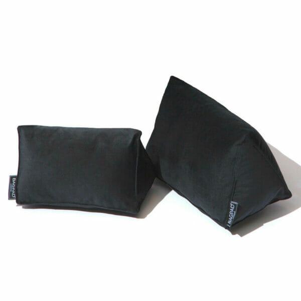Black medium velvet bag shaper bagpad