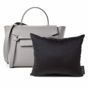Large Silver velvet bag Purse Pillow celine belt bag