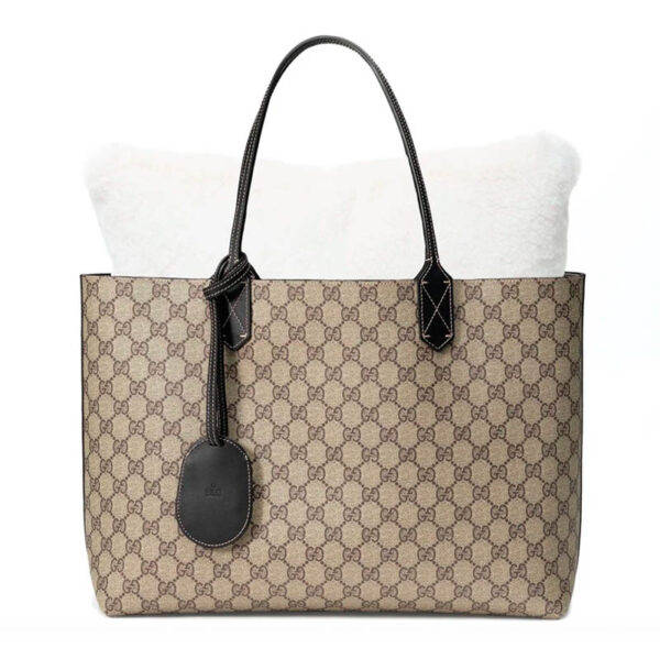 Large Silver velvet bag Purse Pillow in gucci tote bag