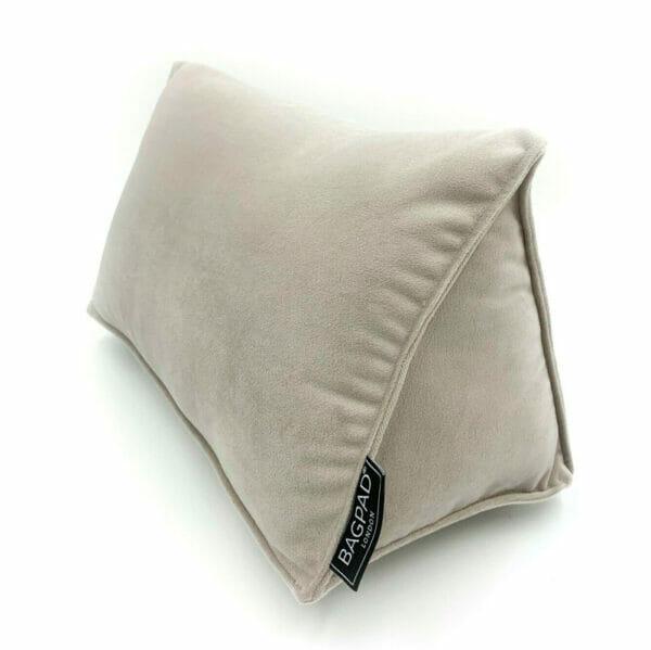 Large Silver velvet bag shaper Purse Pillow