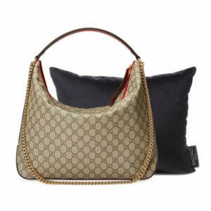 Large black velvet bag Purse Pillow Gucci bag