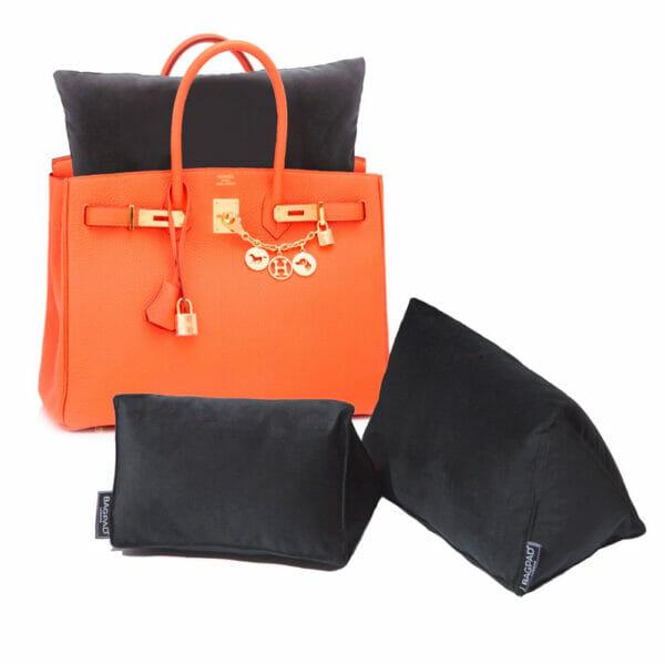 Large black velvet bag Purse Pillow birkin