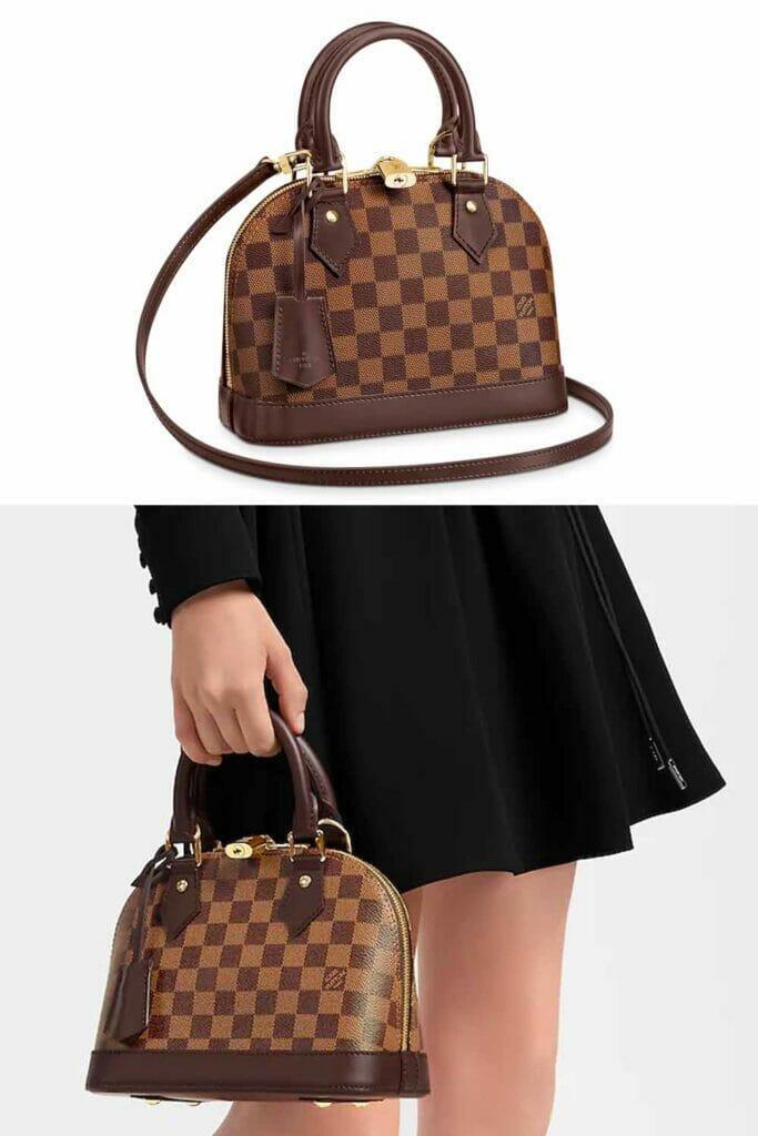 Louis Vuitton alma BB damier ebene bag designer bags under 1000