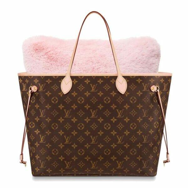 Medium pink faux fur bag Purse Pillow Neverfull tote bag