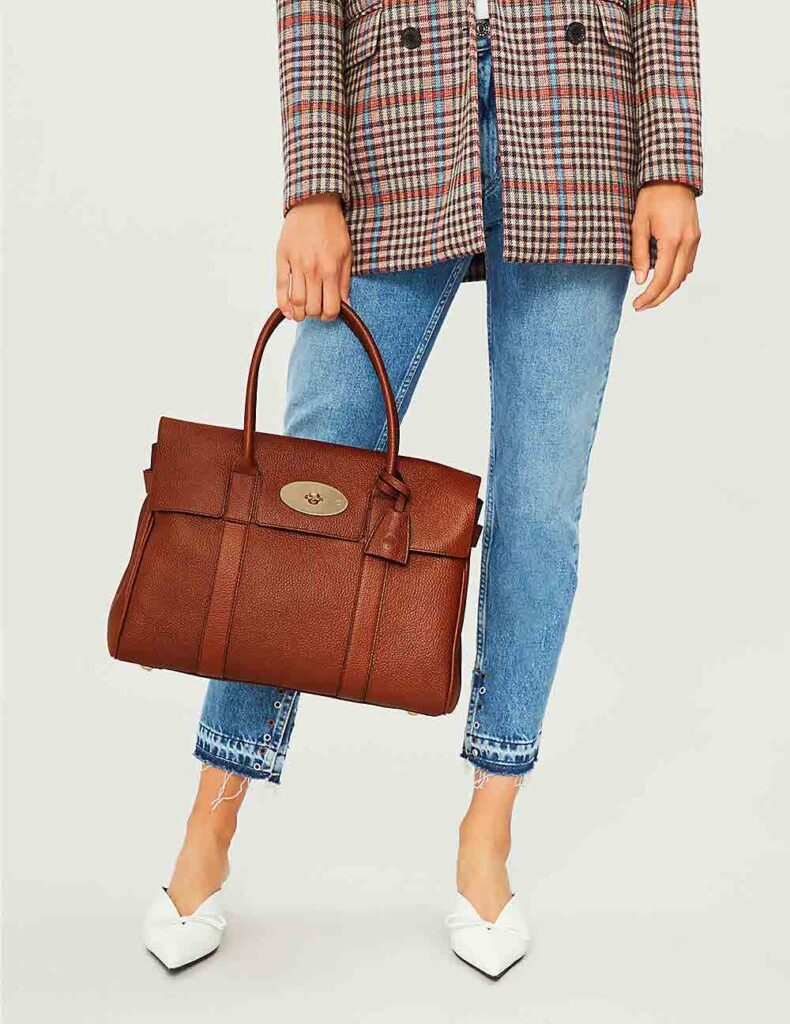 Mulberry bayswater bag oak tan leather and gold hardware