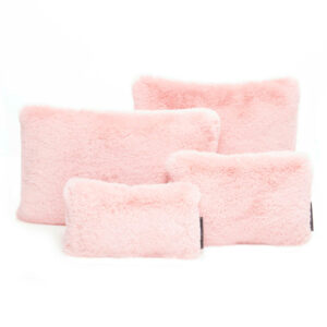 Pink faux fur set of four bag Purse Pillow