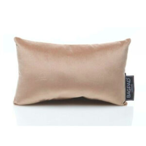 Small nude sand velvet bag Purse Pillow 2