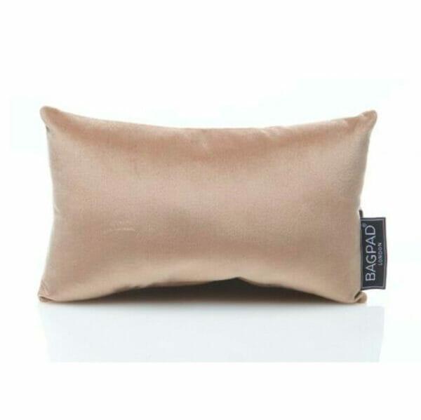 Small nude sand velvet bag Purse Pillow 2