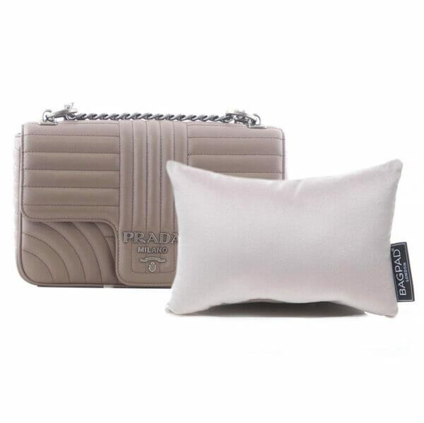 Small silver velvet bag Purse Pillow