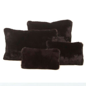 black faux fur set of four bag Purse Pillow