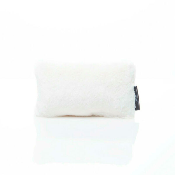 extra small white cream faux fur bag Purse Pillow