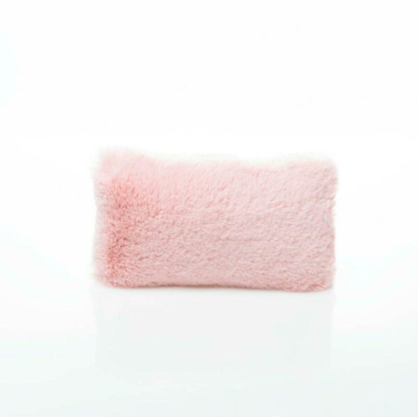 pink extra small faux fur luxury bag purse pillow