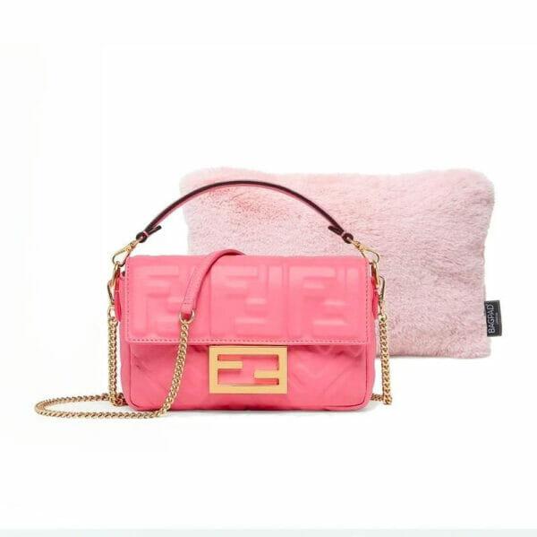 pink extra small faux fur luxury bag purse pillow fendi bag