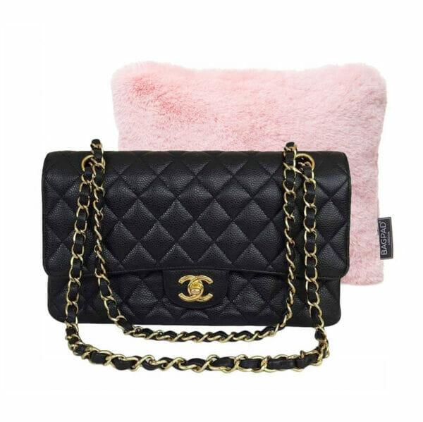pink small faux fur bag Purse Pillow cushion chanel classic flap