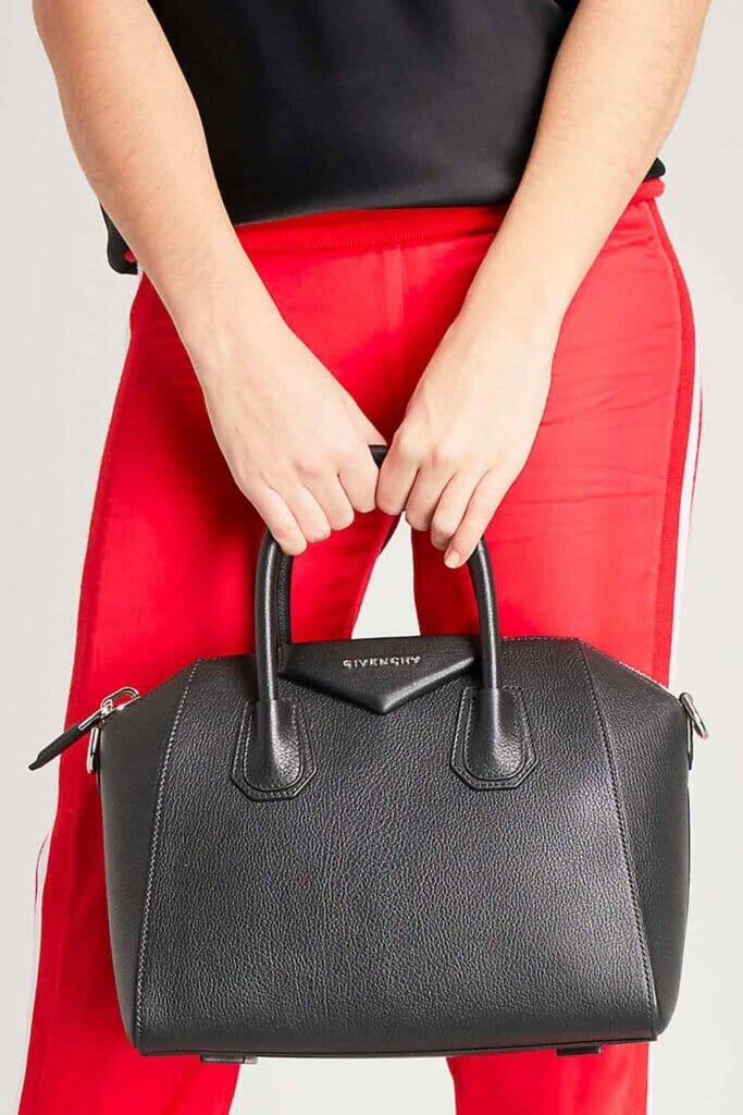 Givenchy Antigona great first designer bag option black leather