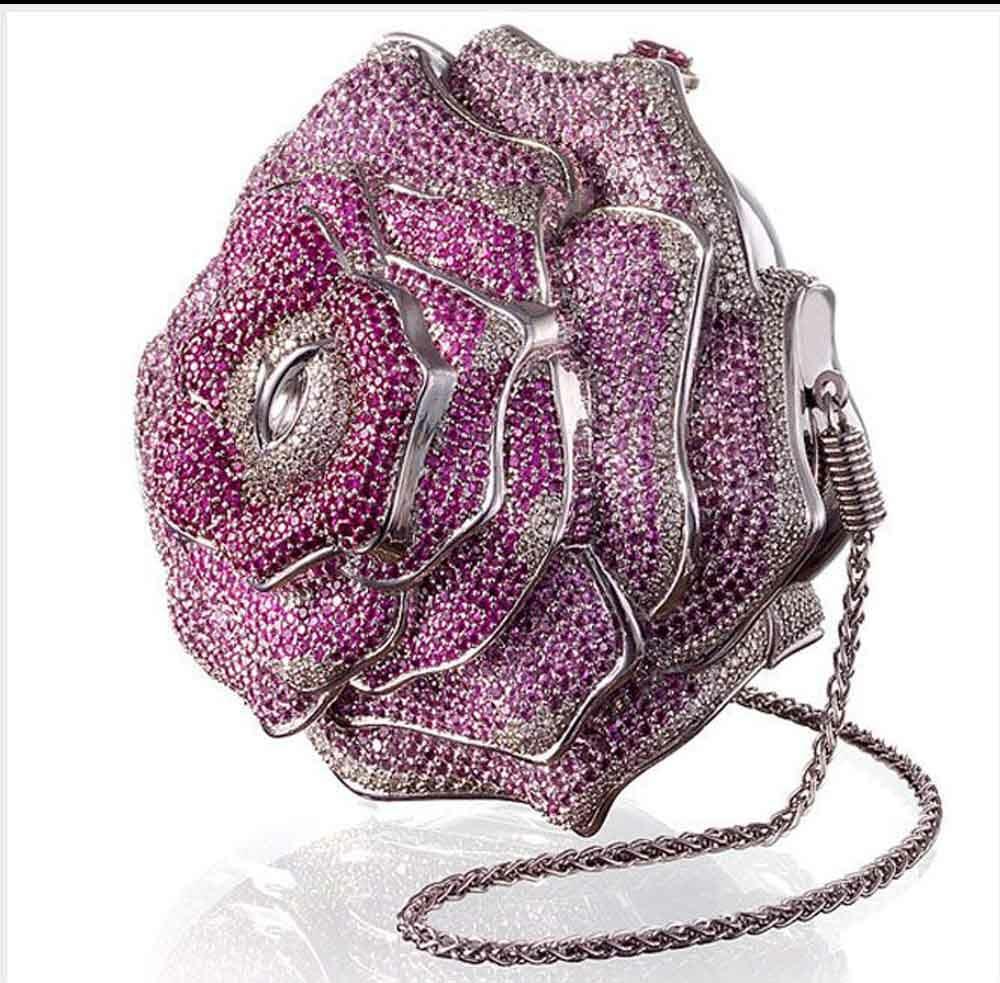 10. Leiber Precious Rose bag expensive diamond bag