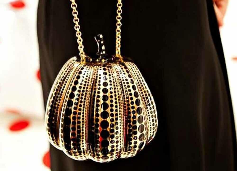 9. Most Expensive Bag Kusama Pumpkin Minaudiere Jewel Bag