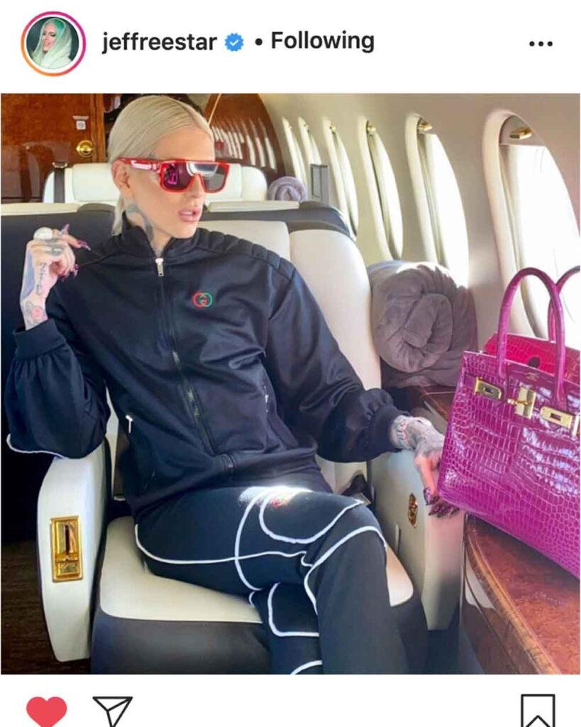 Jeffree Star's Most Expensive Bag Hermès Himalaya Birkin bag